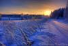 Winter road (Sarebro) Tags: road morning winter snow tree sunrise vinter snö 2009 hdr arboga blueribbonwinner coth frhwofavs photonowcontest46winterwonderlandwinner