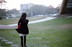 Take A Walk (wsifrancis) Tags: winter film campus minolta walk taiwan taichung   2009 thu      fujifilmsuperia200 thua xgm minolta50mmf17 departmentofarchitecture