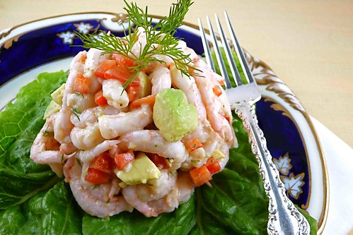 Shrimp Salad with Red Pepper, Avocado & Dill Recipe
