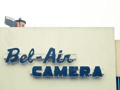 Bel-Air Camera (strph) Tags: california sign losangeles westwood 2009 belaircamera canons90