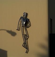 Shadow Dancer (Renee Rendler-Kaplan) Tags: california trip travel winter shadow vacation sun building him losangeles neon december dancers dancing kodak earlymorning dancer hollywood southerncalifornia kodakeasyshare he 2009 lightpole laist reneerendlerkaplan whatisawonmyvacation whatisawfrommycarwindow youmakemefeellikedancing2