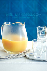 a fresh start (mwhammer) Tags: blue orange white color texture glass glasses cheery crystal fresh crisp orangejuice simple stacked 2010 chilled squeezed freshstart melinahammer foodandpropstyling