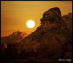 Feel Like Someone is Watching Me ! (Bashar Shglila) Tags: world sunset mountains rock that photography rocks gallery desert photos top profile like best most worlds looks popular libya ghat acacus libyen akakus lbia libi libiya liviya libija   a  thepowerofnow   lbija  lby libja lbya liiba livi   thatrocklookslikea