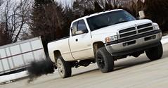 (Brooke Gentz) Tags: white truck industrial dodge cummins blacksmoke blackrims tintedwindows