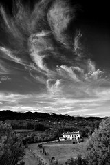 Angel's Sky (!!love_and_lego!! - BUSY -) Tags: sunset blackandwhite bw italy panorama mountain snow mountains alps nature berg birds angel clouds montagne landscape bravo italia nuvole sonnenuntergang nieve piemonte angels neve vista neige alpen nuages biella alp alpi piedmont italians valdengo biellese mywinners superaplus aplusphoto holidaysvacanzeurlaub massimilianogreco fototrove