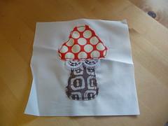 Eurovision Block for Daveandsusi (#2) (sewtobed) Tags: mushroom toadstool
