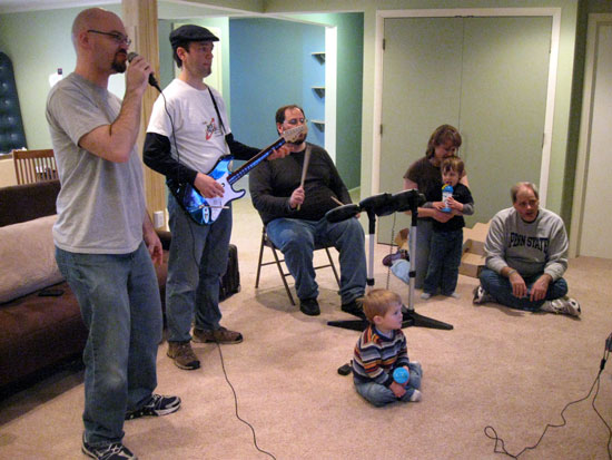 Rock Band, a Family Affair (Click to enlarge)
