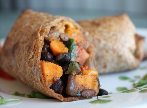 Roasted Veggie and Black Bean Burritos || Aggie's Kitchen