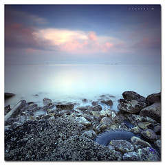 The Beauty of ND400 + Cokin P121 (SHAZRAL) Tags: longexposure seascape sunrise nikon sigma malaysia 1020 pantai jeram selangor hoya d300 cokin remis nd400 p121 azralfikri shazral