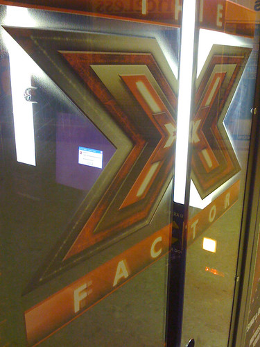 X-Factor booth with error message on screen