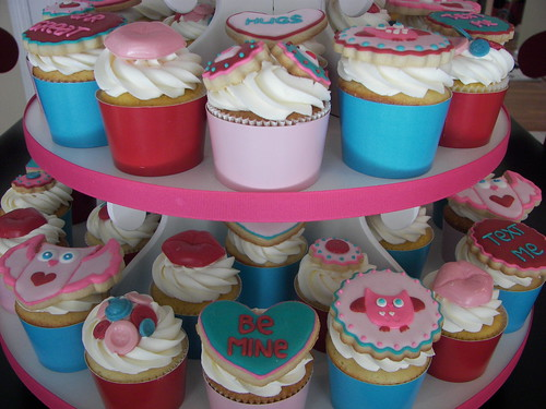 Valentine's Day Cupcake Tower