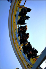 Turbo Coaster (silveritis) Tags: sky people rides brightonpier rollarcoaster palacepier turbocoaster