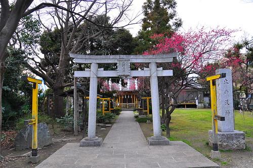 六郷土手の神社