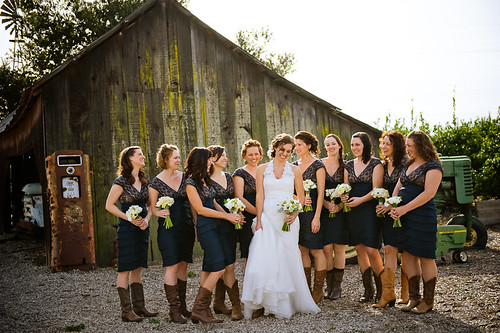 Rustic country weddings are popular from old western barns to wheat fields