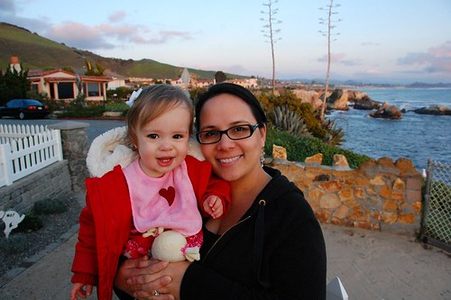 With my sweet girl in Pismo Beach