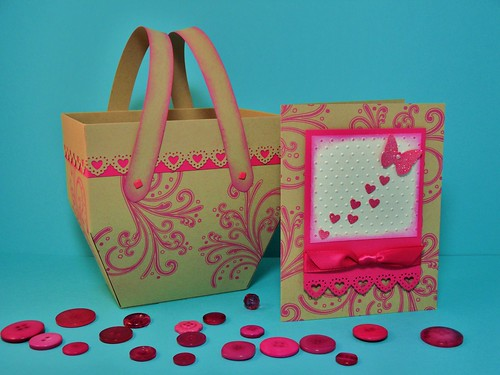 Butterfly Hearts Card with Picnic Basket