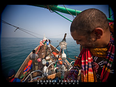Enjoying day time with music (Shabbir Ferdous) Tags: blue sea color colour water boat fishing photographer shot natural song bangladesh bangladeshi travelpicture sigma1020mmf456exdchsm thebayofbengal canoneos5dmarkii shabbirferdous swatchofnoground wwwshabbirferdouscom shabbirferdouscom