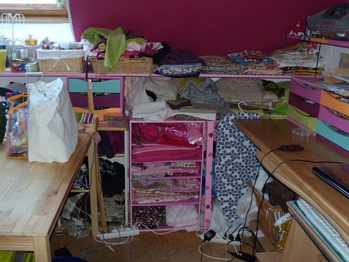 Atelier de couture (amnagements base de meubles Ikea modifis)