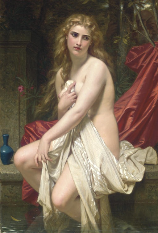 Hugues Merle (French, 1823-1881) Susannah at Her Bath (Date Unknown) 51 1/4 X 35 1/2 in. Private Collection.