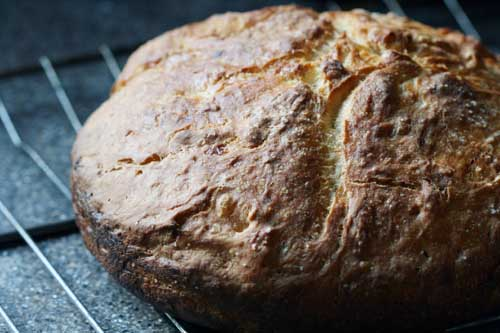 buttermilk pot bread, post-bake