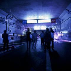 Yamate-tunnel walk, Ohashi JCT 1 (haribote) Tags: road 120 japan mediumformat way geotagged tokyo tunnel structure junction bronica fujifilm sq setagayaku t64 zenzabronica zenzanon geo:lat=35650941 ohashijunction s40mmf4 geo:lon=139687745