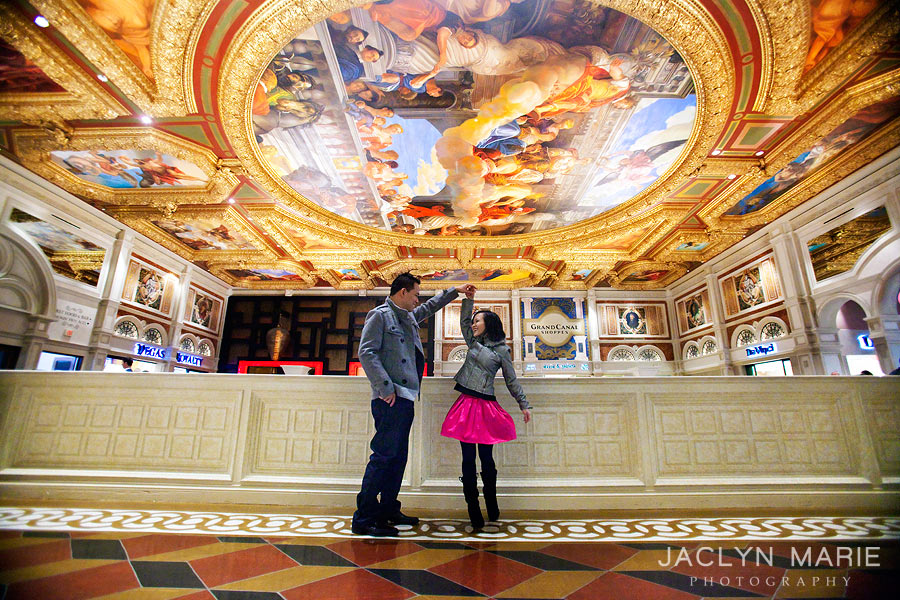 Venetian Las Vegas engagement photo