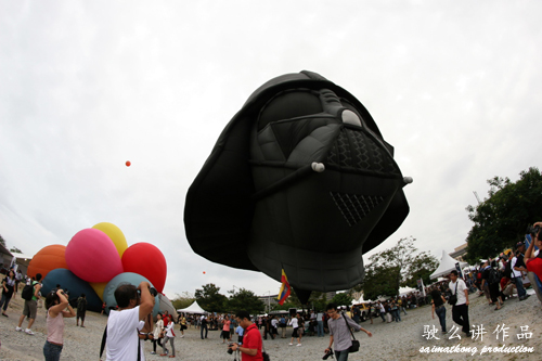 Darth Vader hot air balloon! Haha…