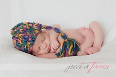 juicy fruit ({{Jessica}}) Tags: old light boy sleeping 2 baby white hat natural background knit elf weeks