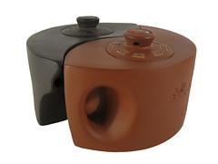 Yixing Yin Yang Twin Teapot (Yixing Teapottery) Tags: tea handmade craft gift pottery teapot yixing orient yinyang stoneware