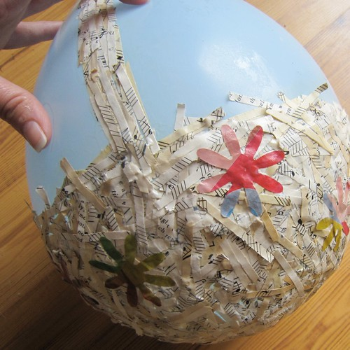 Paper mache easter basket munchkins and mayhem - Easter basket craft ideas ...