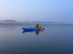 3 Charles Under the Fog (Glass Bead Game Master) Tags: sunrise easter kayak paddle charles kayaking davidt