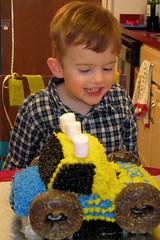 Luke's 4th birthday (lisa ♥ jonze) Tags: birthday cake march luke 4th shattered monstertruck 2010