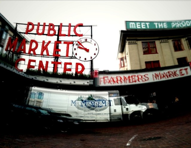 Quick trip to the Pike Street Market, now onto a plane! .