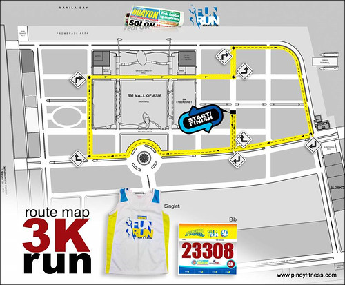 PSN 2010 Fun Run - 3K Race Map and Singlet