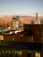 Rotterdam Skyline (Lesley van Zijl) Tags: holland netherlands skyline 35mm canon eos rotterdam kpn luxor erasmusbrug inholland 35l nieuweluxor 550d canonef35mmf14lusm