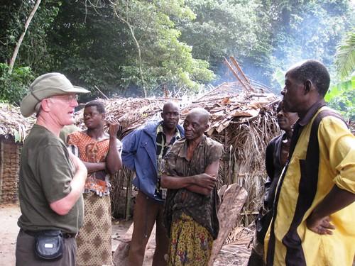 John in a fishing village along Lomami
