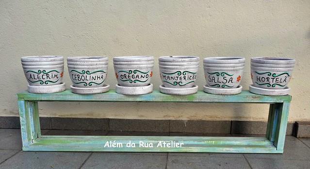 Vasos para temperos, pintados à mão