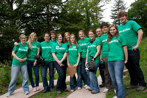 The team of Wildscreen volunteers