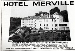 THE HOTEL MERVILLE. EXETER RD. BOURNEMOUTH. DORSET 1965 (BOURNEMOUTH GRANT) Tags: road uk england history hotel grant exeter dorset local bournemouth rd merville cranborne exeterroad exeterrd cranborneroad mervillehotel cranbornerd
