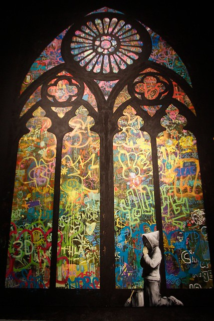 banksy stained glass