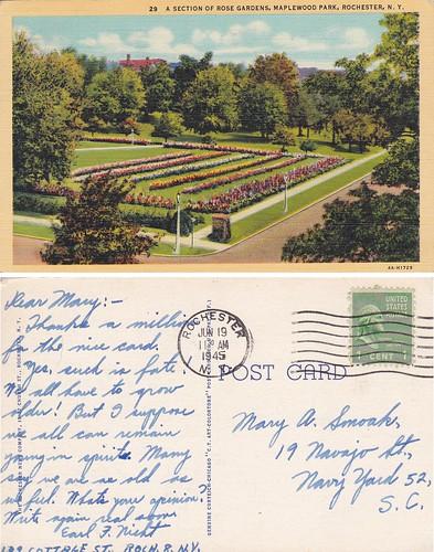 Rose Gardens - Rochester NY 6-19-45