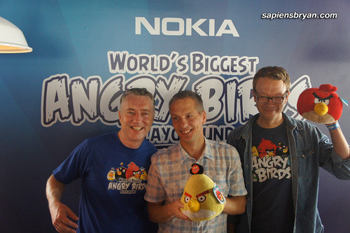 Big shots from Nokia Malaysia and Rovio, the developer of Angry Birds.