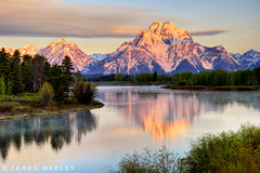 Lift Me Up (James Neeley) Tags: sunrise landscape tetons hdr grandtetonnationalpark gtnp oxbowbend 5xp jamesneeley