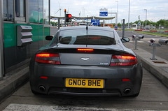 Aston Martin V8 Vantage (D's Carspotting) Tags: aston martin v8 vantage france coquelles calais grey 20100613 gn06bhe le mans 2010 lm10 lm2010