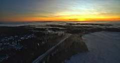 Morning above mist (tommi_berg) Tags: tommi berg dji phantom 3 4k djiphantom34k tommitberg päijänne scenery logo morning winter misty haze dawn