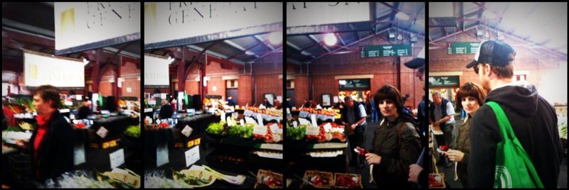 shopping for fresh ingredients at early-morning Queen Victoria Markets