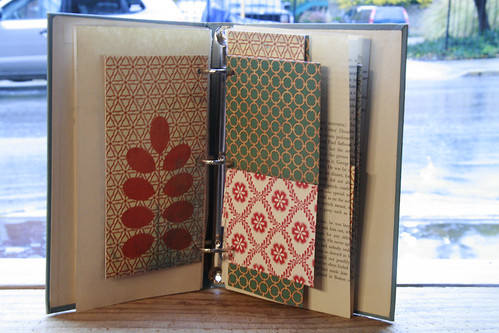 Vintage Book Three Ring Binder Mini Albums