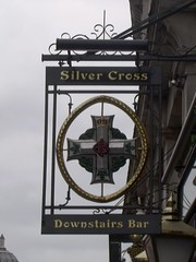 Silver Cross - Whitehall - Pub sign (ell brown) Tags: greatbritain england london sign pub unitedkingdom trafalgarsquare homeoffice whitehall pubsign horseguards foreignoffice publichouse silvercross sw1a cityofwestminster greaterlondon downstairsbar