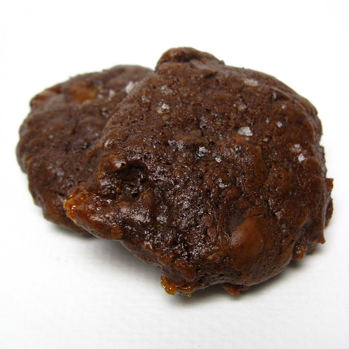 Salted Chocolate Covered Caramel Cookies