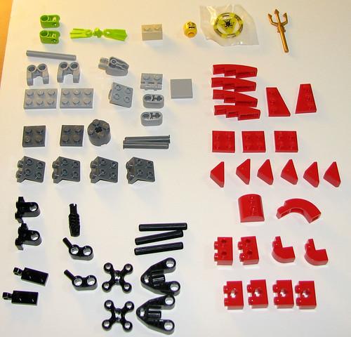 LEGO 8060 Atlantis - Typhoon Turbo Sub - Parts 1